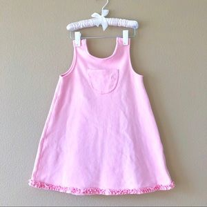 GAP⚡️Toddler Girl Light Pink Wrap Dress Set_XXL
